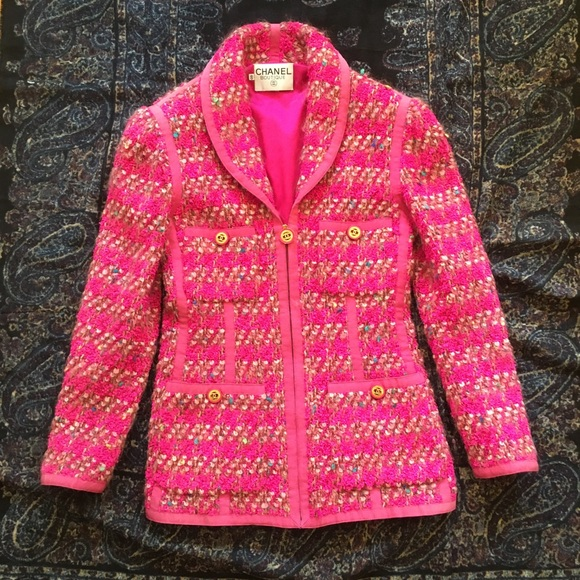 Chanel by Karl Lagerfeld Fluorescent Tweed 1991 FW